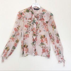Zara Women's Floral Top